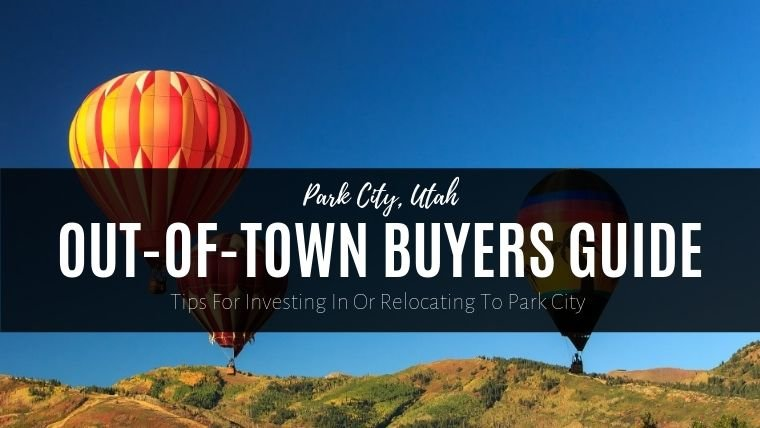 Hot air balloons over Park City, Utah