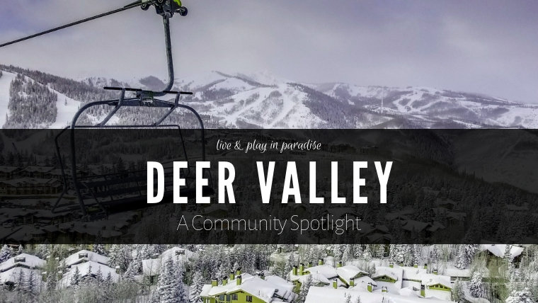 View of Deer Valley Ski Resort from chair lift