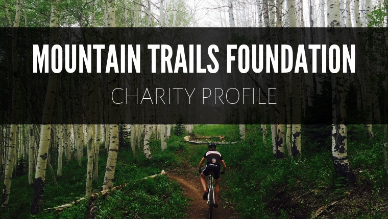 Image of mountain cyclist with Mountain Trails Charity Foundation
